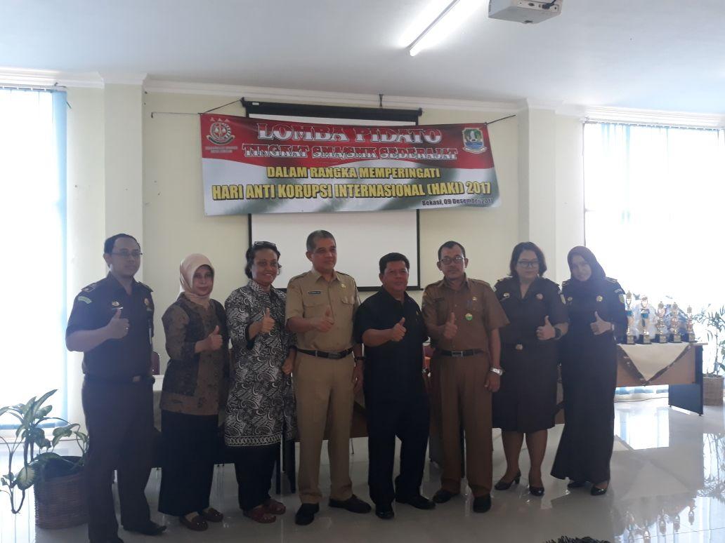 Peringati HAKI Kejaksaan Negeri Kota Bekasi Gelar Lomba Pidato Tingkat SMA/SMK Sederajat